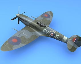 3D model RAF Supermarine Spitfire Mk IX Battle of Britain