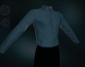 Blue Suit Shirt 3D asset VR / AR ready