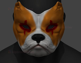 3D print model Bulldog Mask STL File Halloween Cosplay