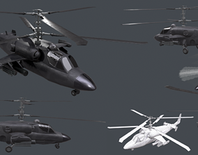 3D model Helicopter KA 52 Black Shark game-ready