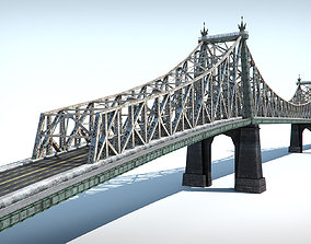 Bridge low poly detailed 3D asset