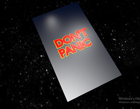 3D printable model The Hitchhikers Guide to the Galaxy