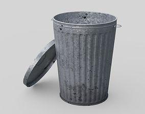 Dustbin 3 Lowpoly 3D model