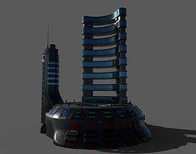3D model Sci-fi Hotel