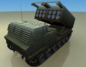 ballistic MLRS Artillery 3D model