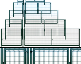 3D model Gate wicket fence industrial