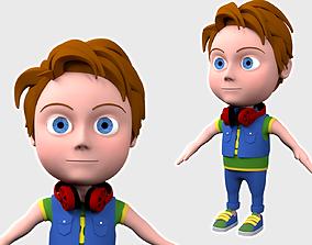 3D role Cartoon Boy NoRig