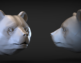 Panda head 3D print model