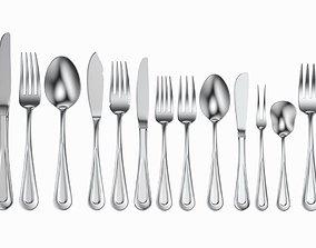 3D Table Cutlery 17 Items Set