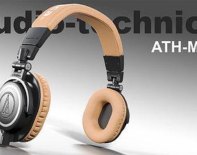 3D asset Audio technica ATH-M50x headphones PBR