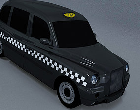 LTI Lowpoly London Taxi 3D model game-ready