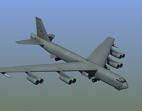 packet B52 Stratofortress Bomber 3D