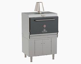 Hosper HMB AB 110 Mibrasa charcoal oven 3D