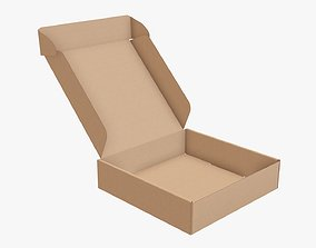 Corrugated cardboard box packaging 08 3D model