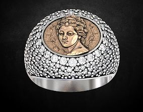 Ring with a madonna Many sizes 141 3D printable model