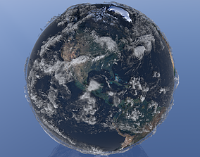 10K Relief Earth 3D Model animated 3d-planet