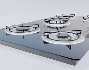 kitchen cooker top appliance 3D asset