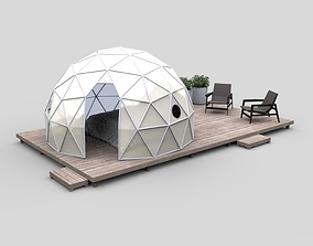 Geodesic Dome Guest House and villa 3D