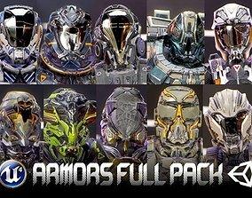 3D asset Armors Full Pack