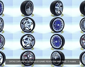 3D ORTAS CAR RIM 61-62-63-64-65 GAME READY RIM AND TIRE