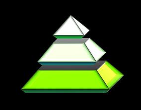 3D model VR / AR ready Pyramid
