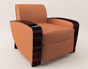3D Armchair - Art Deco 1920