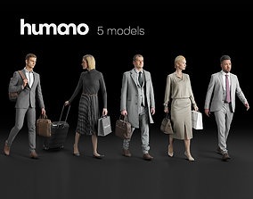 Humano 5-Pack - PEOPLE - STREET - TRAVELING - 5x 3D 2