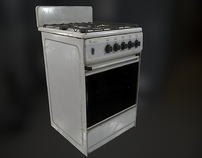 Gas Stove 3D model realtime