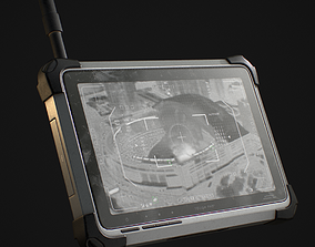 military Tablet Phone Military 3D model