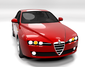 ALFA ROMEO 159 LOWPOLY 3D model