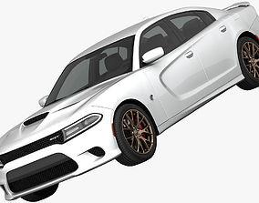 Dodge Charger SRT Hellcat 2015 detailed interior 3D model