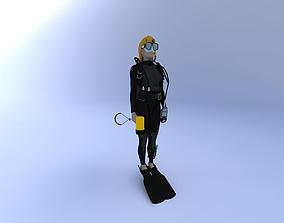 3D Scuba Diver Female