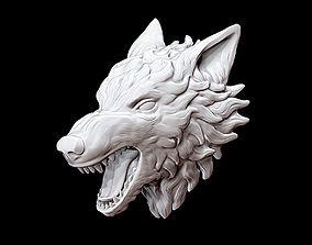 Wolf head 3D print model billet