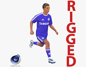 Soccer Player Chelsea Rigged 2 for Cinema 4D 3D model