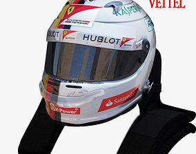 3D model Vettel helmet 2017