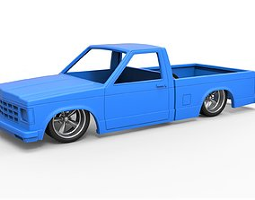 Diecast shell and wheels Chevrolet S10 3D print model 4