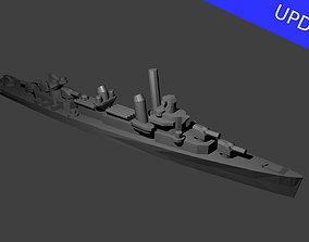 3D print model Fletcher Class Destroyer Warship