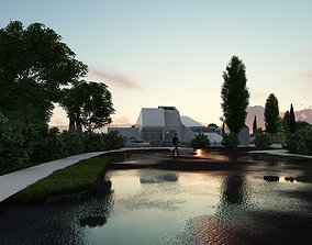 3D Architecture Project 172 - Museum - skp lumion8 dwg not