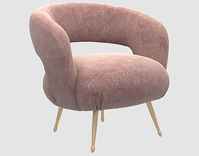 3D model Laurel lounge chair pascal rose by Kelly