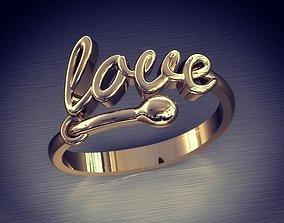 3D printable model Woman ring Love