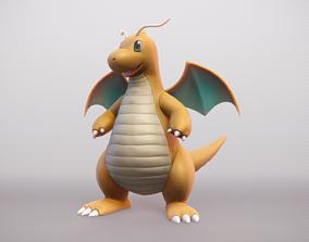 3D model Dragonite - Realistic Dragon Pokemon