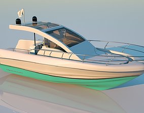 Speed boat base shape ship 3D model