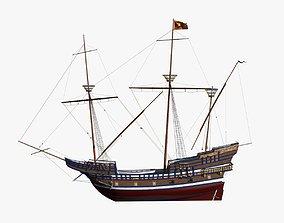 3D Venice War Ship 1550