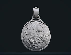 3D print model Water Lily Pendant enamel