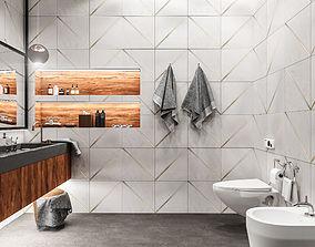 modern texturing Bathroom 3D model
