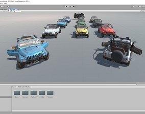 Unity SUV 4x4 vehicle pack 3D model