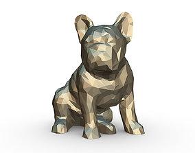 French Bulldog Figure 3D print model sculpture