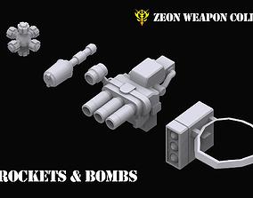 3D model Gundam Zeon Rockets and Bombs