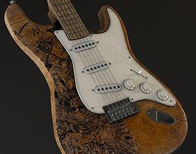 3D Fender Guitar Electric