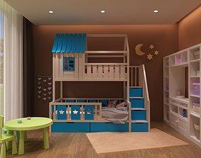 Baby bed 4 3D